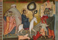 Orthodox Icons, Sacred Art, Medieval, Painting, Jerusalem, Palm Sunday, Jesus Christ, Art, Life