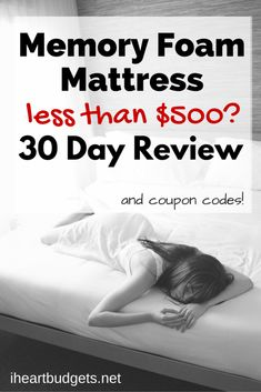 A new mattress doesn't have to break the bank. We slept on this sub-$500 mattress for 30 days and give our honest feedback here (plus coupons exclusive to iHeartBudgets readers)