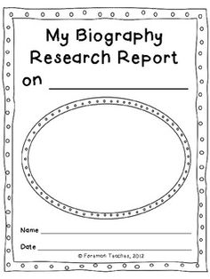 Common Core Aligned - Grades 3-5  This product includes everything a student will need to write a research report on a person. You will only need to print the pages, provide the students with the resources to find the information, and have students bind the pages into a book. If possible, copy the cover page and final page on white cardstock to make the book sturdier.