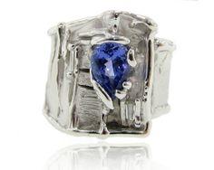 Tanzanite & Diamond silver ring Statement jewelry for the bold. www.wexfordjewelers.com