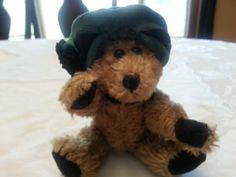 Boyds-Bear-Plush-Blanch-DeBearvoir-Antique-Vintage-Look-with-Green-Hat