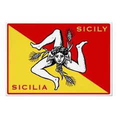 Sicilian Flag Print by magarmor