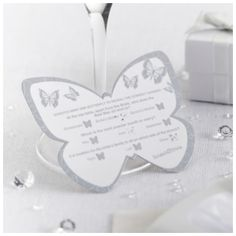 Butterfly Scratch Trivia (Silver) - Wedding Ideas Shop