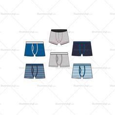 Mens Boxer Briefs Fashion Flat Templates #boxer #boxerbrief #brief #underwear #boys #flatfashion #technicaldesign #fashiondesign #details #vector #illustrator #fashiontemplate #fashionflats #illustratorstuff #childrenswear #kidswear