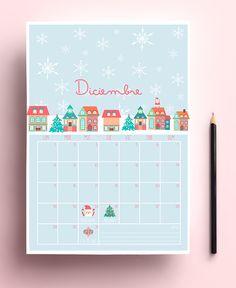 Freebie: Calendario de diciembre | Aubrey and Me: Freebie: Calendario de diciembre