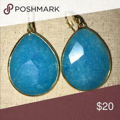 Stella & dot teardrop turquoise earrings Large drop earrings. Stella & dot. Excellent cond. no box. Used for display. Stella & Dot Jewelry Earrings
