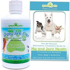 HUGE 32oz Liquid Glucosamine with Chondroitin & MSM Jumping Joint and Hip Supplement for Large & Small Dogs - FREE Arthritis Pain Support Dog Health Guide - FREE SHIPPING Green Paw Pets http://www.amazon.com/dp/B00SA5QMOA/ref=cm_sw_r_pi_dp_2Onavb1WVX6Z0