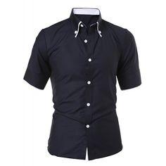 Publish Men Omer Button Up Short Sleeve Shirt black ❤ liked on ...
