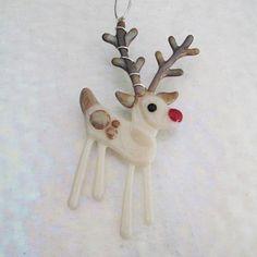 'Rudy' Fused Glass Reindeer
