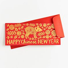 Year of the Pig Chinese New Year Card : Year of the Pig Chinese New Year Card - Greeting Cards