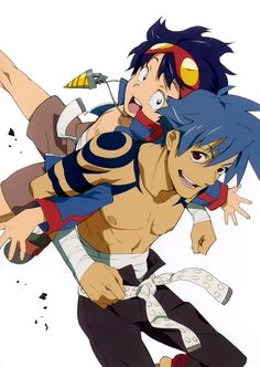 Top 10 Male Anime Characters || Simon & Kamina ~ List here: http://www.animedecoy.com/2015/08/top-10-male-anime-characters.html