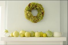 Light Green Simple Mantel #autumn