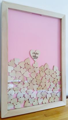 Wedding Drop Box Guest Book, with 100 wooden hearts, birthday, baby shower by Tobyshop1 on Etsy https://www.etsy.com/listing/251562723/wedding-drop-box-guest-book-with-100