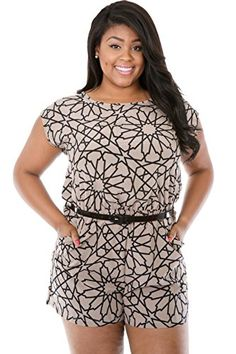 Fashion Bug Plus Size I See stars Romper. www.fashionbug.us #curvy