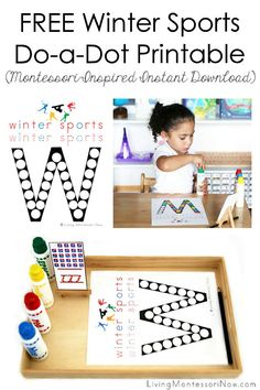 Living Montessori Now - Montessori Inspiration for Parents and Teachers Activities For 1 Year Olds, Winter Activities For Kids, Montessori Activities, Montessori Homeschool, Winter Games, Homeschooling, Preschool Literacy, Preschool Themes, Preschool Printables