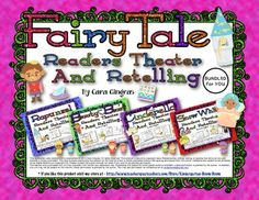 Fairy Tale Readers Theater and Retellings (Bundled) This would be a FABULOUS addition to any Fairy Tale unit. Teaching Reading, Teaching Kids, Guided Reading, Learning, Kindergarten Literacy, Literacy Centers, Fairy Tales Unit, First Grade, Third Grade