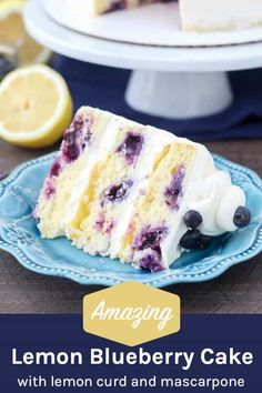 Easy No Bake Desserts, Homemade Desserts, Strawberry Swirl Cheesecake, Blueberry Cake, Blueberry Wedding, Homemade Snickers, Cheesecake Desserts, Lemon Desserts, Cupcake Cakes