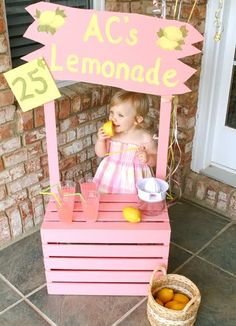 Pink lemonade stand birthday party baby shower bridal shower idea. See more at www.karaspartyideas.com