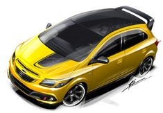 Chevrolet Onix Track Day Concept - Sketch Render