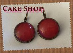 "B.O. cabochons 14mm ""nuance red jean's brut"" de Cake shop - Bijoux gourmands sur DaWanda.com"