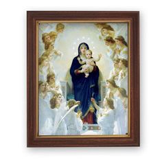 Madonna Queen of Angels By Bouguereau Print in Frame