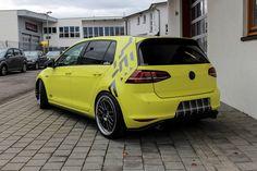 Ambulance Yellow Folierung VW Golf MK7 GTI Tuning (24)