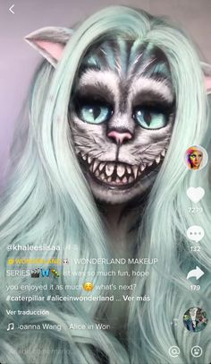 Alice In Wonderland, Halloween Face Makeup, Make Up, Fun, Painting, Fictional Characters, Painted Faces, Artists, Painting Art