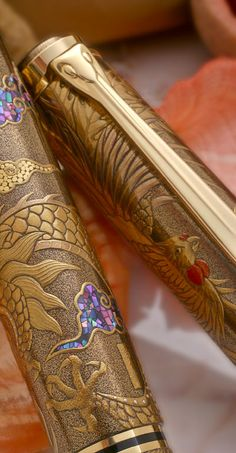 Pelikan Maki-e sterling silver fountain pen #pelikan, #maki-e, #fountain pen, #18k Gold nib, #18k Gold, #gold