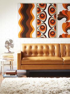 It would hardly be the 1960s without a healthy dose of burnt orange.