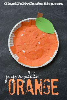 Paper Plate Orange - Kid Craft