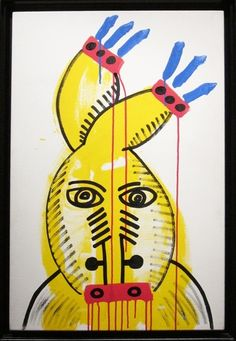 Keith Haring, 'Red Yellow Blue No. 20,' 1987, Rosenfeld Gallery Acrylic & oil on canvas 36 1/4 × 24 in 92.1 × 61 cm