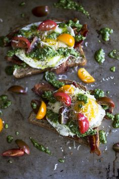 Open-Faced Egg Sandwich with Arugula Pesto — My Diary of Us