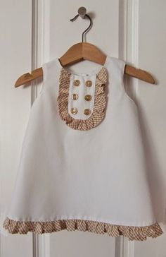 DIY Kids Dress - FREE Sewing Pattern and Tutorial (Love the bib detail)