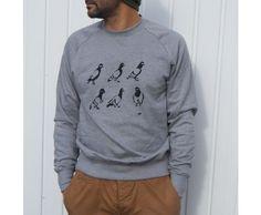 Spy Pigeon Mens Sweatshirt #mensfashion #menswear #giftsforhim #pigeon #screenprint #sweatshirts