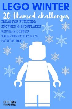 Winter LEGO Building Activities, Challenges and Ideas for Kids including holidays!