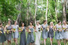 They look so beautiful in their mix and match bridesmaid dresses. Photo by Charla Storey Photography. #bridesmaid #wedding #bridesmaiddresses