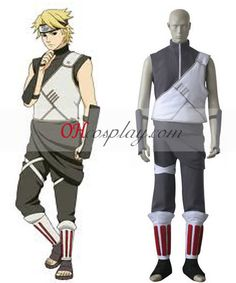 Naruto Shippuuden Thunder Village C Cosplay Costume
