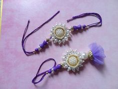 Fancy Handcrafted Designer Rakhi Brother Sister Pearl Stone Rakhi Raksha Bandhan #IndianBrand #Friendship