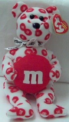 M'S Red Bear Ty Beanie Babies