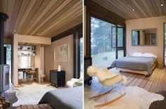 And another simple stunner designed by Olson Kundig Architects, this quaint one-bedroom cabin is refined and minimal, letting nature take center stage.
