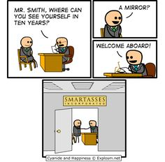 [explosm] smartasses incorporated. I should start giving this answer.