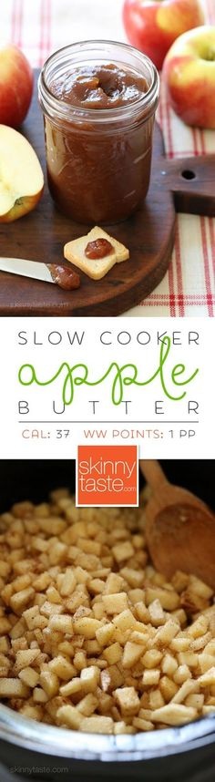 Slow Cooker Apple Butter is like a spreadable apple pie! Perfect to make this Fall if you go apple picking. It's great on toast, pancakes, waffles and more!