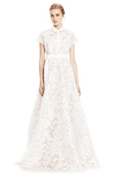 Daisy Fil Coupe Belted Gown