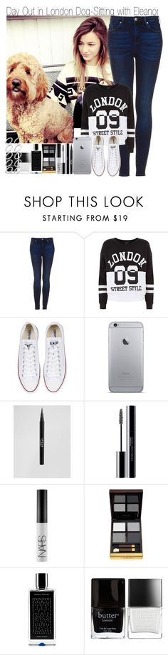 """""""Day Out in London Dog Sitting with Eleanor"""" by elise-22 ❤ liked on Polyvore featuring Topshop, Converse, Stila, shu uemura, NARS Cosmetics, Tom Ford, Agonist, Butter London, ASOS and eleanorcalder"""