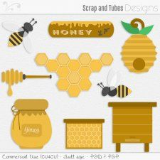 Honey Templates (CU4CU) by Scrap and Tubes #CUdigitals cudigitals.com cu commercial digital scrap #digiscrap scrapbook graphics