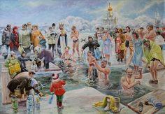 Очищение. На Крещение Господне., автор Сергей Бессонов. Артклуб Gallerix