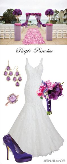 Wedding Day Look: Purple Paradise ~ Brought to You by @jabridal