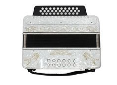 Rizatti Bronco RB31FW Diatonic Accordion – White – Key F/Bb/Eb