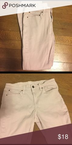 Gap Jeggings Worn twice. Light pink in color. Size 2/26 GAP Jeans Skinny