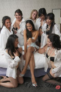 Bachelorette Party Brides Boudoir Party Group Boudoir by Chicago Doll Photography